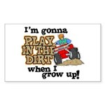 Play In The Dirt Rectangle Sticker