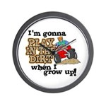 Play In The Dirt Wall Clock