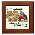Play In The Dirt Framed Tile