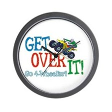 Get Over It - 4 Wheeling Wall Clock