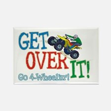 Get Over It - 4 Wheeling Rectangle Magnet