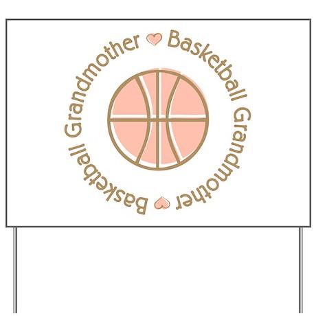 Basketball Grandmother Yard Sign