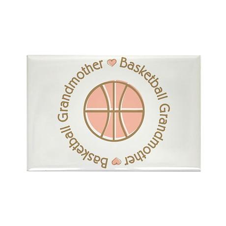 Basketball Grandmother Rectangle Magnet