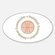 Basketball Grandmother Oval Decal