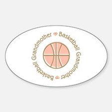 Basketball Grandmother Oval Sticker (50 pk)