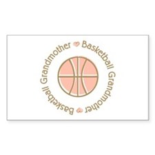 Basketball Grandmother Rectangle Sticker 10 pk)