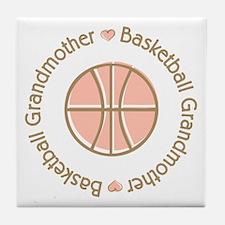 Basketball Grandmother Tile Coaster