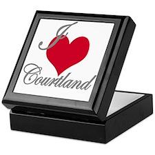 I love (heart) Courtland Keepsake Box