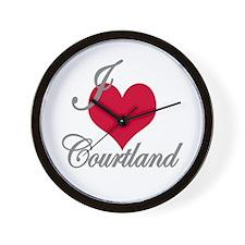 I love (heart) Courtland Wall Clock