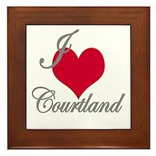 I love (heart) Courtland Framed Tile