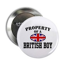 Property of a British Boy Button