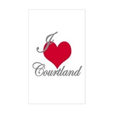 I love (heart) Courtland Rectangle Decal