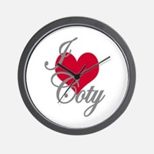 I love (heart) Coty Wall Clock