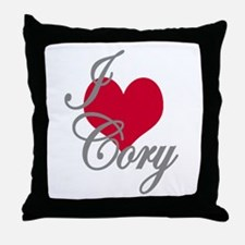 I love (heart) Cory Throw Pillow