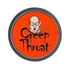 Karl Rove Creep Throat Wall Clock