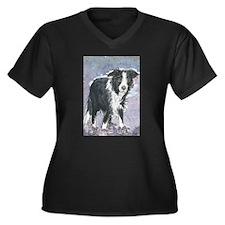 Bedtime? Women's Plus Size V-Neck Dark T-Shirt