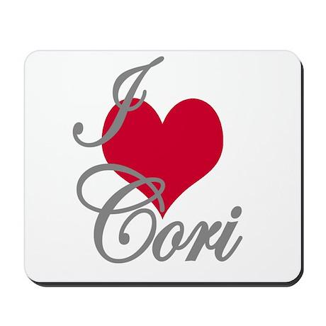 I love (heart) Cori Mousepad