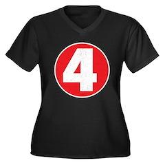 Racer 4 Women's Plus Size V-Neck Dark T-Shirt