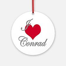 I love (heart) Conrad Ornament (Round)