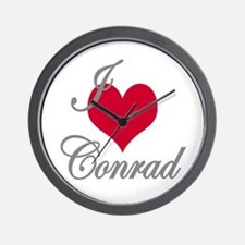I love (heart) Conrad Wall Clock