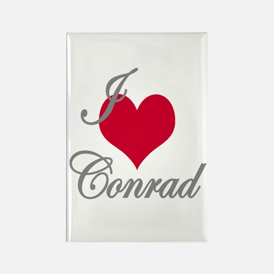 I love (heart) Conrad Rectangle Magnet