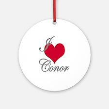 I love (heart) Conor Ornament (Round)