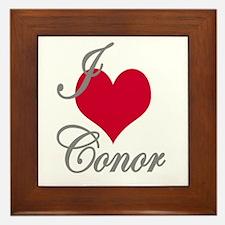 I love (heart) Conor Framed Tile