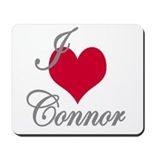I love (heart) Connor Mousepad