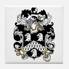 Hull Family Crest Tile Coaster
