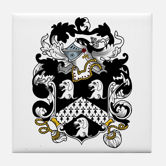Hull Family Crest Tile Coaster