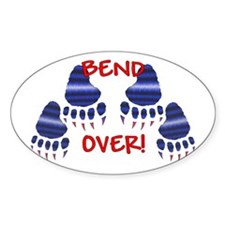 LEATHER PRIDE/BEND OVER! Oval Decal
