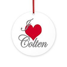 I love (heart) Colten Ornament (Round)