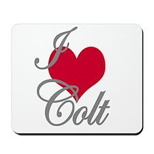 I love (heart) Colt Mousepad