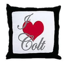 I love (heart) Colt Throw Pillow