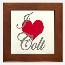 I love (heart) Colt Framed Tile