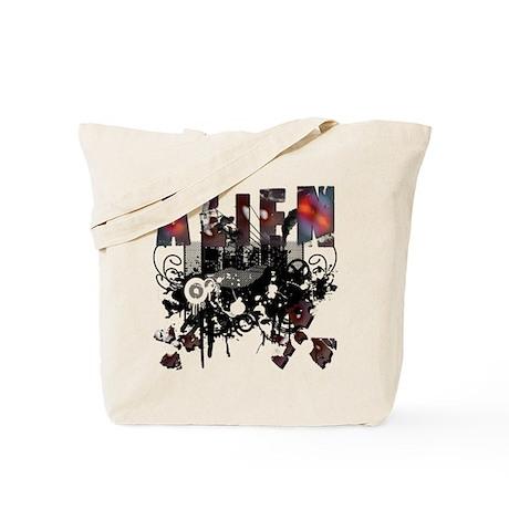 Alien Vector Design 14 Tote Bag