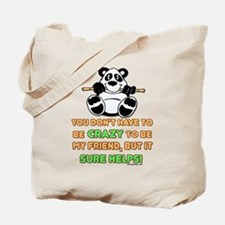 Crazy Friends Tote Bag