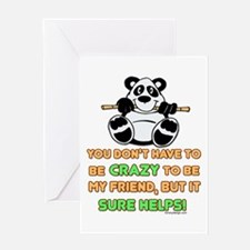 Crazy Friends Greeting Card