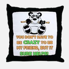 Crazy Friends Throw Pillow