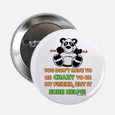 "Crazy Friends 2.25"" Button"