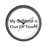 My Girlfriend is Out of Town! Wall Clock