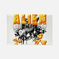 Alien Vector Design 24 Rectangle Magnet