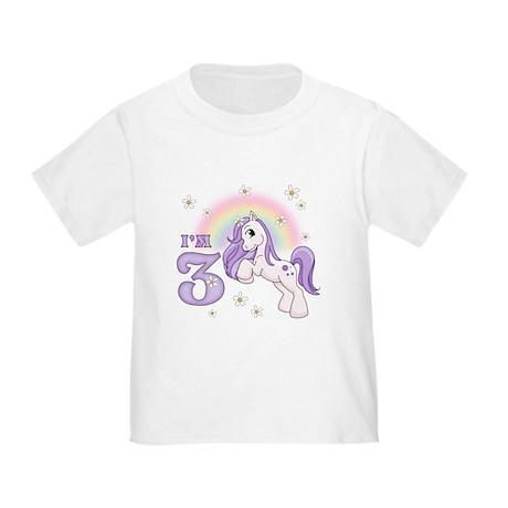 Pretty Pony 3rd Birthday Toddler T-Shirt