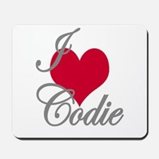 I love (heart) Codie Mousepad