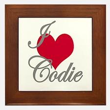 I love (heart) Codie Framed Tile