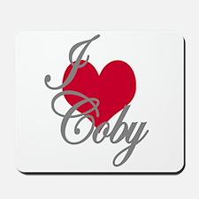 I love (heart) Coby Mousepad