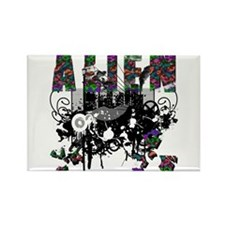 Alien Vector Design 42 Rectangle Magnet