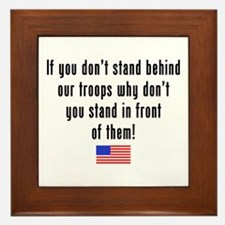 Patriotic: Stand Behind Our Troops Framed Tile