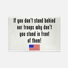 Patriotic: Stand Behind Our Troops Rectangle Magne