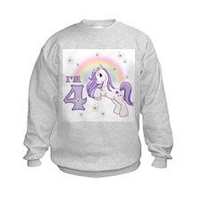 Pretty Pony 4th Birthday Sweatshirt